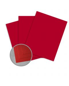 Carnival Red Card Stock - 35 x 23 in 90 lb Cover Cordwain Embossed  30% Recycled 500 per Carton