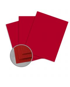 Carnival Red Card Stock - 26 x 40 in 100 lb Cover Felt 300 per Carton