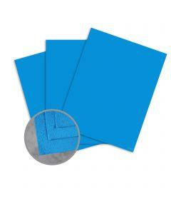 Cascata Cobalt Card Stock - 12 x 12 in 80 lb Cover Felt 25 per Package