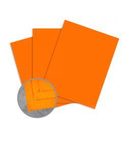 Cascata Mandarin Card Stock - 12 x 12 in 80 lb Cover Felt 25 per Package