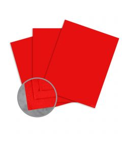 Cascata Ruby Card Stock - 12 x 12 in 80 lb Cover Felt 25 per Package
