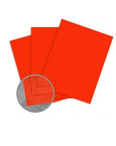 Cascata Scarlet Card Stock - 8 1/2 x 11 in 80 lb Cover Felt 25 per Package