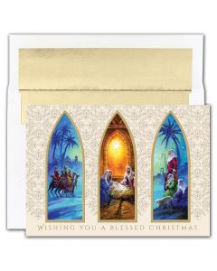 Christmas Triptych  Cards from the Fine Impressions Holiday Collection.  | 3-FI-857000 | The Paper Mill Store .com