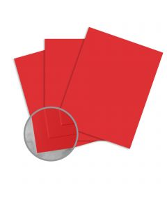CLASSIC CREST Red Pepper Card Stock - 26 x 40 in 130 lb Cover DT Smooth  30% Recycled 200 per Carton
