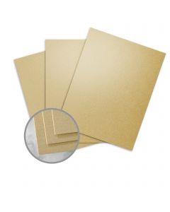 CLASSIC Linen Gold Pearl Card Stock - 8 1/2 x 11 in 84 lb Cover Linen C/2S 250 per Package