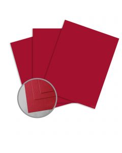 ColorMates Medium Berry Red Card Stock - 8 1/2 x 11 in 65 lb Cover Smooth 25 per Package