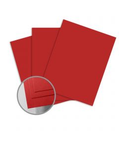 ColorMates Smooth & Silky Apple Red Card Stock - 12 x 12 in 80 lb Cover Smooth 25 per Package