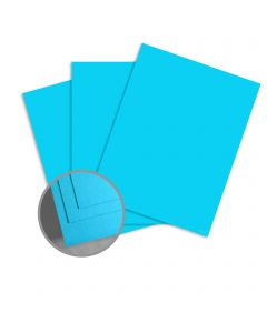 ColorMates Smooth & Silky Blue Card Stock - 8 1/2 x 11 in 90 lb Cover Smooth 250 per Package