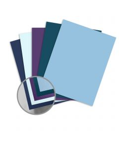 ColorMates Smooth & Silky Cool Assortment Card Stock - 8 1/2 x 11 in 80 lb Cover Smooth 25 per Package