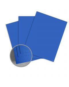 ColorMates Smooth & Silky Prussian Blue Card Stock - 8 1/2 x 11 in 90 lb Cover Smooth 25 per Package