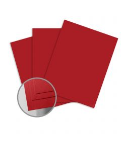ColorMates Smooth & Silky Red Card Stock - 8 1/2 x 11 in 90 lb Cover Smooth 25 per Package