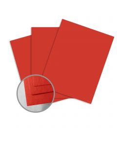 ColorMates Smooth & Silky Scarlet Red Card Stock - 8 1/2 x 11 in 90 lb Cover Smooth 25 per Package