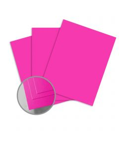 ColorMates Smooth & Silky Shocking Pink Card Stock - 12 x 12 in 90 lb Cover Smooth 25 per Package