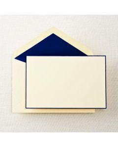Crane & Co. Regent Blue Bordered Correspondence Card