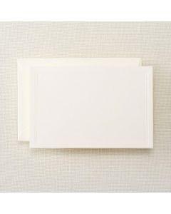 Crane & Co. Pearl White Triple Debossed Correspondence Card
