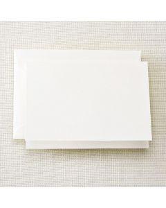 Crane & Co. Pearl White Folded Note