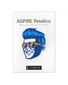 ASPIRE Petallics - CTI Paper USA Text Paper and Cover Paper Sample Swatchbook and Professional Graphics Tool