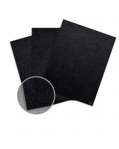 Ruche Black Card Stock - 8 1/2 x 11 in 170 lb Cover DT Crepe 100% Recycled 75 per Package