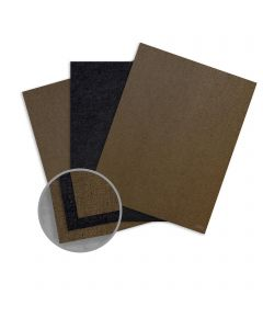Ruche Black/Natural Card Stock - 8 1/2 x 11 in 170 lb Cover Duplex Crepe 100% Recycled 75 per Package