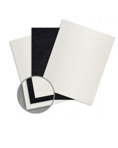 Ruche White/Black Card Stock - 8 1/2 x 11 in 170 lb Cover Duplex Crepe 80% Recycled 75 per Package