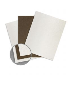 Ruche White/Natural Card Stock - 8 1/2 x 11 in 170 lb Cover Duplex Crepe 80% Recycled 75 per Package