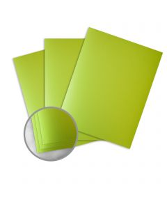 Curious Cosmic Alien Green Card Stock - 8 1/2 x 11 in 133 lb Cover Soft Matte Metal C/1S 100 per Package