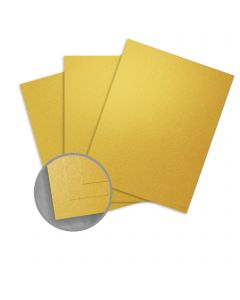 Curious Metallics Super Gold Card Stock - 8 1/2 x 11 in 111 lb Cover Metallic C/2S 100 per Package