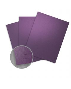 Curious Metallics Violette Card Stock - 8 1/2 x 11 in 111 lb Cover Metallic C/2S 100 per Package