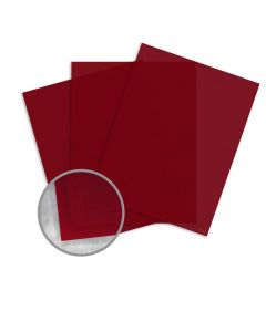 Curious Translucents Red Lacquer Paper - 8 1/2 x 11 in 27 lb Bond Translucent Vellum 250 per Package