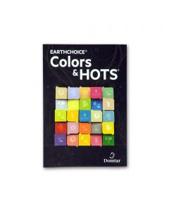 EarthChoice Colors & Hots  - Domtar Text Paper and Cover Paper Sample Swatchbook and Professional Graphics Tool