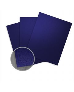Elan Metallics Midnight Blue Card Stock - 8 1/2 x 11 in 111 lb Cover Metallic C/2S 25 per Package