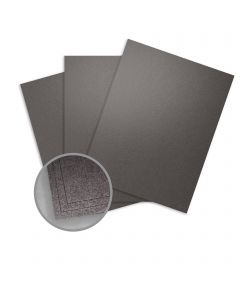 Elan Metallics Obsidian Card Stock - 8 1/2 x 11 in 107 lb Cover Metallic C/2S 25 per Package