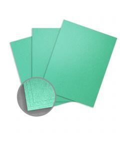 Elan Metallics Photon Green Card Stock - 8 1/2 x 11 in 86 lb Cover Metallic C/2S 25 per Package