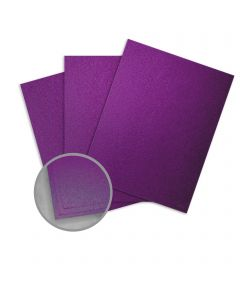 Elan Metallics Plum Card Stock - 12 x 12 in 111 lb Cover Metallic C/2S 25 per Package