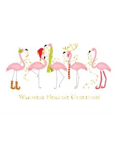 Fashionista Flamingos Cards from the Fine Impressions Warmest Wishes Collection.  | 3-FI-816300 | The Paper Mill Store .com
