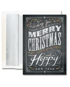 Chaulkboard Merry Christmas Cards from the Fine Impressions Blank Holiday Cards Collection.