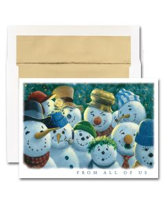 From All Of Us - Snowmen Cards from the Fine Impressions Blank Holiday Cards Collection.