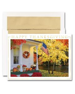 Patriotic Porch Cards from the Fine Impressions Blank Thanksgiving Cards Collection.
