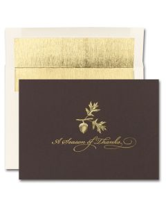 Season of Thanks Cards from the Fine Impressions Blank Thanksgiving Cards Collection.