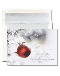 Thank You Ornament Cards from the Fine Impressions Blank Holiday Cards Collection.