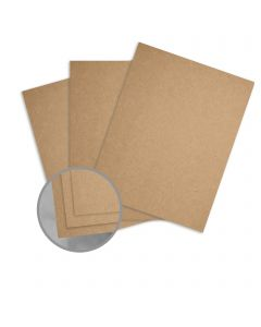 Glama Kraft Brown / Brown Card Stock - 18 x 12 in 129 lb Cover Kraft 100% Recycled 150 per package
