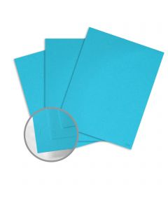 Glo-Tone Blue Light Card Stock - 8 1/2 x 11 in 65 lb Cover Vellum  100% Recycled 250 per Package