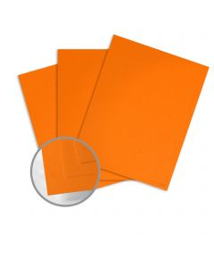 Glo-Tone Orange Light Card Stock - 8 1/2 x 11 in 65 lb Cover Vellum  100% Recycled 250 per Package