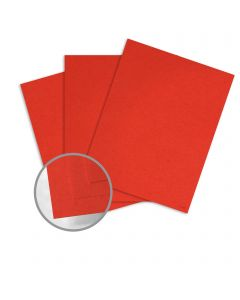 Glo-Tone Red Light Card Stock - 8 1/2 x 11 in 65 lb Cover Vellum  100% Recycled 250 per Package