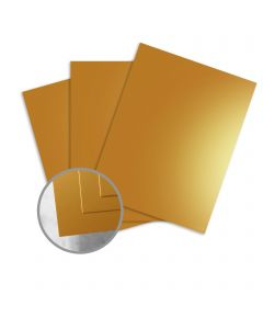 JAZZ High Gloss Gold Paper - 8 1/2 x 11 in 12 pt Cover 25 per Package
