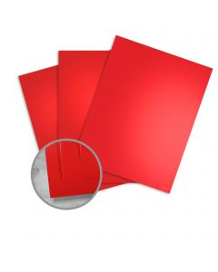 JAZZ High Gloss Red Paper - 8 1/2 x 11 in 12 pt Cover 25 per Package