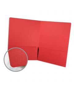 Presentation Folder -  80 lb Cover Uncoated Red Vellum Finish 9 x 12 Folder 10 per Package