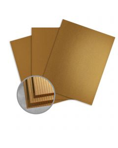 JAZZ Striped High Gloss Gold Paper - 8 1/2 x 11 in 12 pt Cover 25 per Package