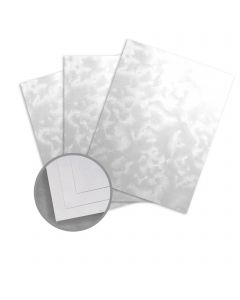 Kromekote Jade White Paper - 8 1/2 x 11 in 74 lb Text Brush C/1S 600 per Package