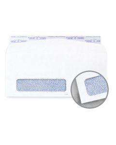 CH Heywood White w/Blue Security Tint Envelopes - No. 10 Window Peel & Seal(4 1/8 x 9 1/2) 24 lb Writing Wove 500 per Box